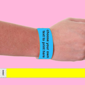 CUSTOMISED TYVEK WRISTBANDS, paper like party & event wristbands, tamper proof
