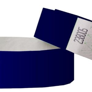 100 Plain Tyvek Paper Wristbands Events/parties/security/festivals/1″x10″/ID