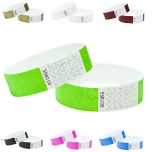TYVEK WRISTBAND BULK PACKS – 100
