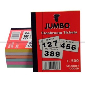 Cloakroom tickets, 1 to 500